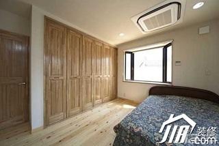 日式风格公寓简洁经济型120平米卧室床图片