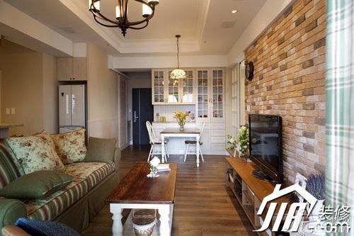 美式乡村风格小户型富裕型客厅沙发图片