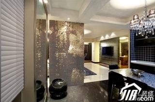 简约风格三居室15-20万120平米餐厅客厅过道餐桌图片