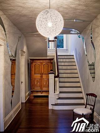 简约风格复式富裕型楼梯灯具效果图