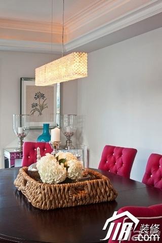 混搭风格复式艺术10-15万130平米餐厅餐桌效果图