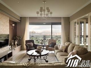美式乡村风格公寓简洁富裕型客厅沙发效果图