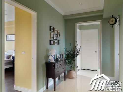 美式乡村风格公寓富裕型走廊装修效果图