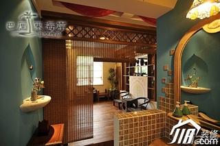 非空东南亚风格二居室富裕型洗手台图片