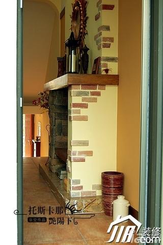 非空别墅富裕型140平米以上壁炉效果图