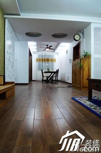 美式乡村风格公寓富裕型120平米客厅地板图片高清图片