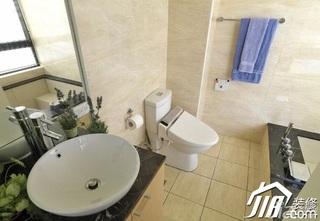 简约风格二居室白色5-10万浴室柜图片