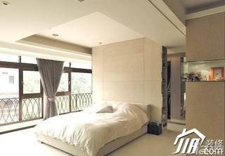 简约风格二居室5-10万卧室床图片