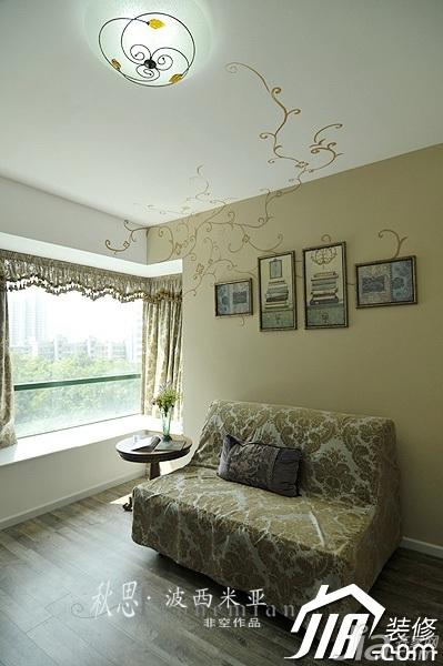 非空东南亚风格公寓灯具效果图