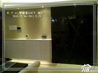 混搭风格复式富裕型90平米餐边柜效果图