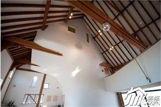 loft风格复式原木色装修图片