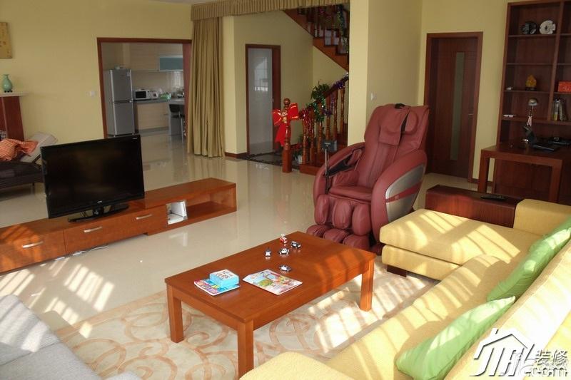 简约风格别墅舒适经济型120平米客厅茶几效果图