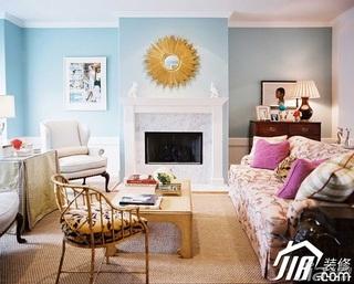 欧式风格简洁富裕型客厅沙发效果图
