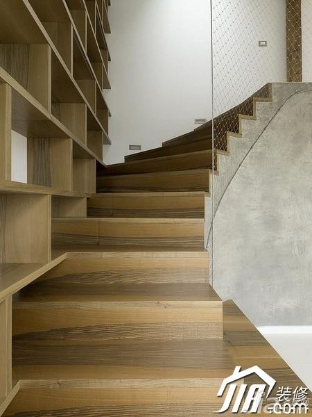 简约风格公寓5-10万80平米楼梯装修图片