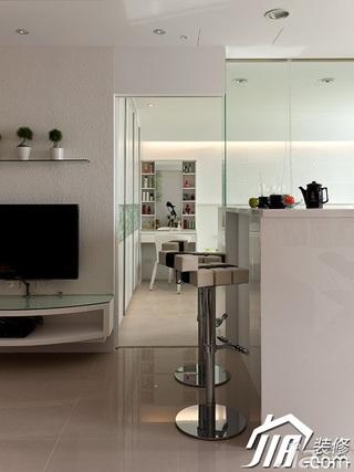 简约风格公寓经济型吧台电视柜效果图