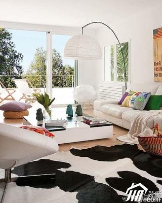 欧式风格别墅富裕型客厅沙发效果图