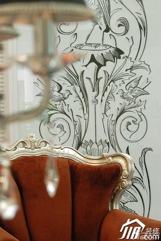 欧式风格二居室古典白色富裕型装修效果图