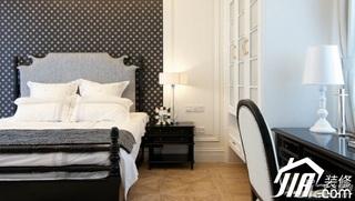 地中海风格别墅大气黑白豪华型卧室床图片