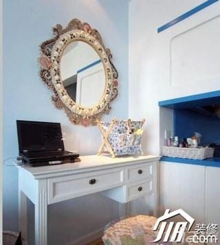 地中海风格小户型乐活蓝色富裕型卧室梳妆台效果图