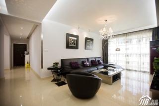 简约风格二居室稳重富裕型客厅走廊沙发效果图