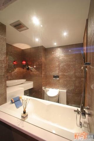 混搭风格公寓富裕型卫生间设计