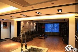 混搭风格跃层豪华型客厅沙发效果图