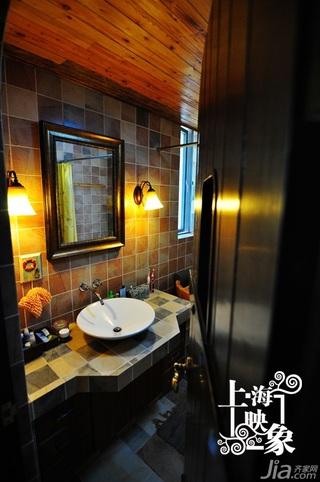 复式温馨富裕型140平米以上卫生间洗手台效果图