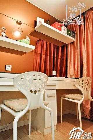 简约风格一居室温馨暖色调富裕型工作区效果图