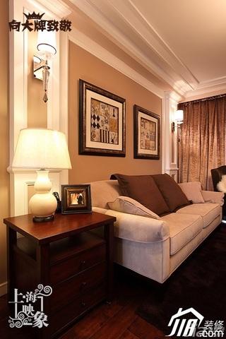 简约风格一居室大气咖啡色富裕型客厅沙发效果图
