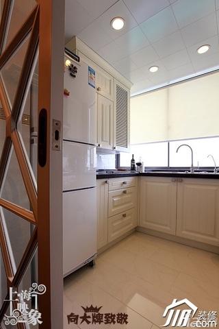 简约风格一居室大气咖啡色富裕型厨房橱柜安装图
