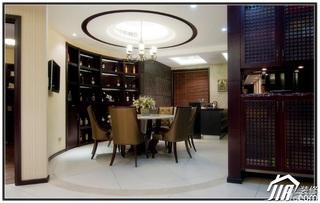 混搭风格公寓20万以上130平米餐厅灯具婚房家装图