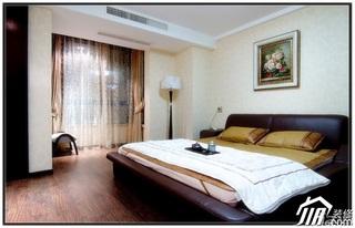 混搭风格公寓20万以上130平米卧室窗帘婚房家装图