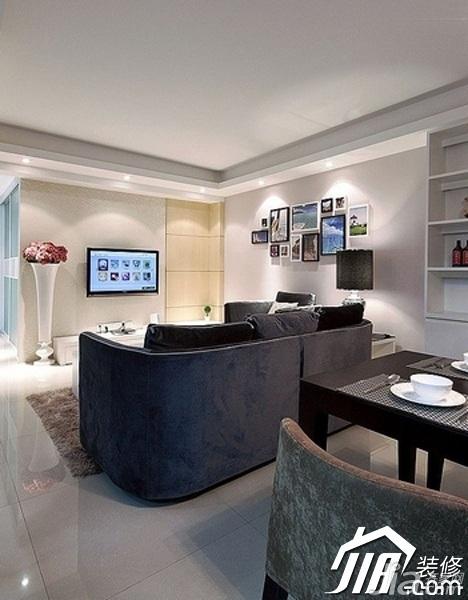 简约风格公寓经济型70平米客厅背景墙装修图片
