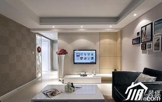 简约风格公寓经济型70平米客厅背景墙电视柜效果图