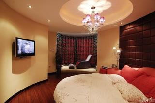 中式风格温馨富裕型卧室飘窗床效果图