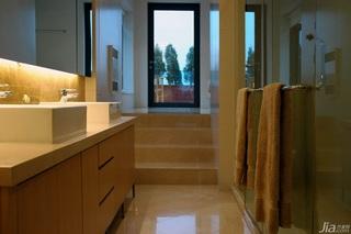 美式乡村风格别墅大气米色卫生间洗手台效果图