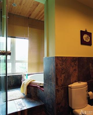 东南亚风格别墅古典原木色富裕型140平米以上卫生间装潢