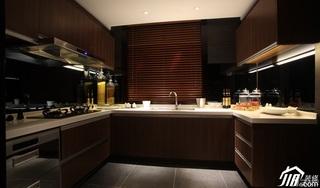 简约风格公寓大气豪华型厨房橱柜安装图