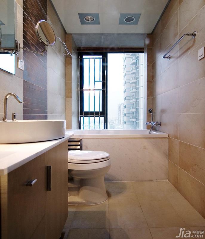 简约风格三居室5-10万120平米卫生间设计