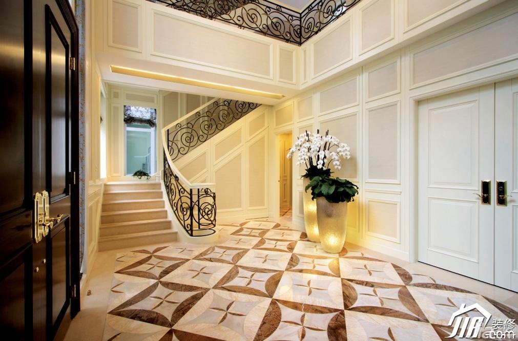 欧式风格别墅奢华豪华型140平米以上楼梯效果图