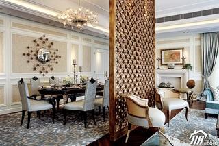 欧式风格别墅奢华豪华型140平米以上客厅隔断窗帘效果图