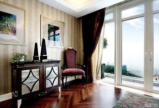 欧式风格别墅奢华豪华型140平米以上窗帘效果图