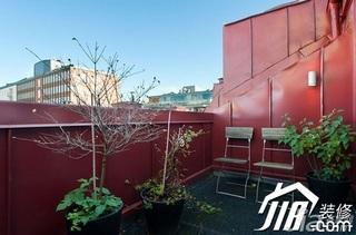 简约风格公寓富裕型90平米露台效果图