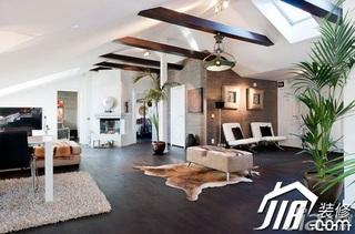 简约风格公寓白色富裕型90平米客厅灯具效果图
