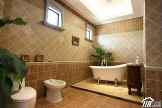 欧式风格别墅奢华白色豪华型卫生间装修效果图