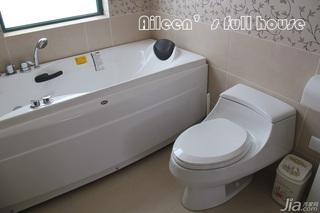 简约风格三居室富裕型卫生间婚房设计图纸