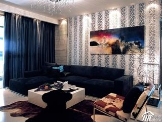 欧式风格三居室稳重豪华型140平米以上客厅背景墙沙发效果图