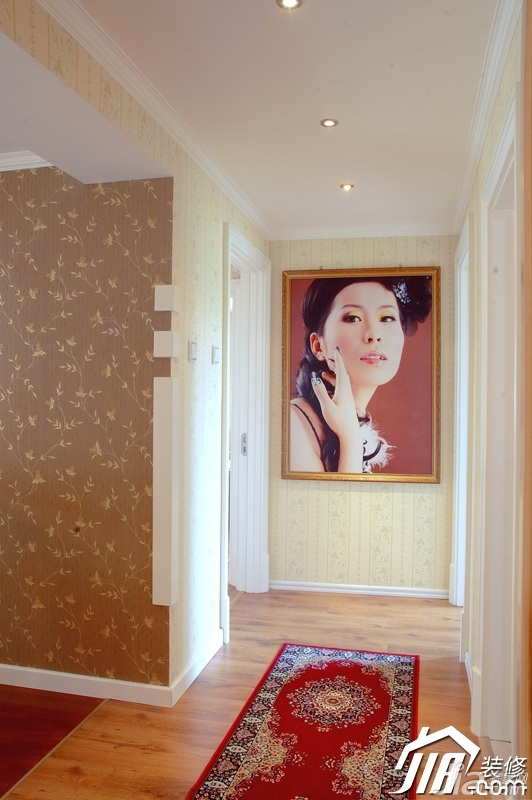 美式乡村风格二居室唯美豪华型走廊效果图