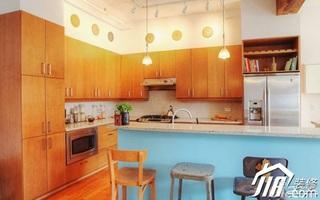 简约风格挑高户型小清新经济型厨房吧台吧台椅效果图