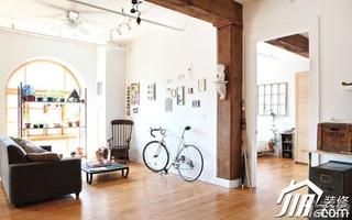 简约风格挑高户型小清新经济型客厅背景墙沙发效果图